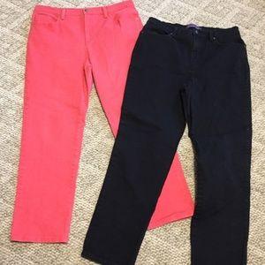 Gloria Vanderbilt High Rise Jeans Lot Black Pink